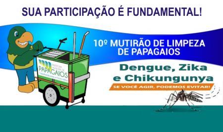 10º Mutirão de Limpeza em Papagaios conta com a participação de toda a população