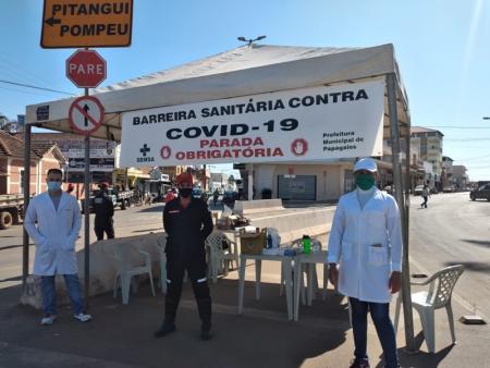 Série de barreiras sanitárias são realizadas em Papagaios em razão da pandemia do COVID-19
