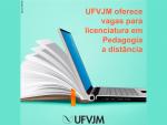 UFVJM oferece 20 vagas gratuitas para licenciatura em Pedagogia a distância no polo de Papagaios