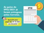 As guias do IPTU/2021 já foram entregues. Aproveite para pagar com desconto!